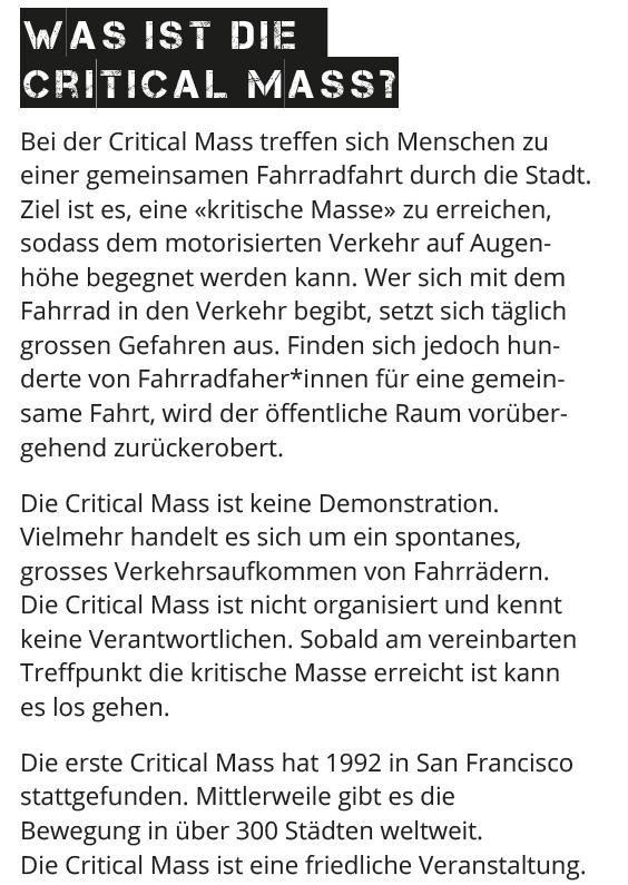 """Was ist """"Critical Mass"""""""